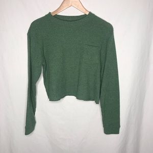 Wild Fable long sleeve green waffle knit